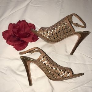 Coach ankle strap heels